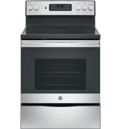 ge 30 in 5 3 cu ft electric range with self cleaning convection oven in stainless steel [ 1000 x 1000 Pixel ]