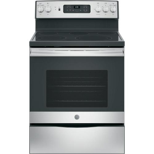 small resolution of ge 30 in 5 3 cu ft electric range with self cleaning convection oven in stainless steel