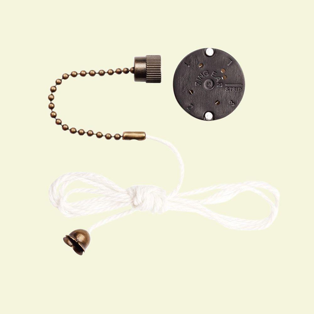 Westinghouse 77021 Ceiling Fan Switches 3 Speed 4 Wire Unit