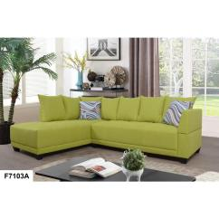 Tufted Linen Sectional Sofa Small Leather Sleeper Green Single Right Set 2 Piece Sh7103a The Home Depot