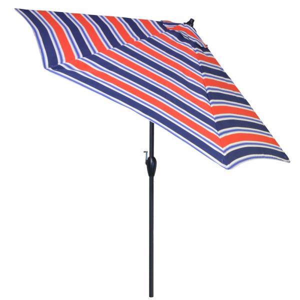 Plantation Patterns 9 Ft. Aluminum Patio Umbrella In