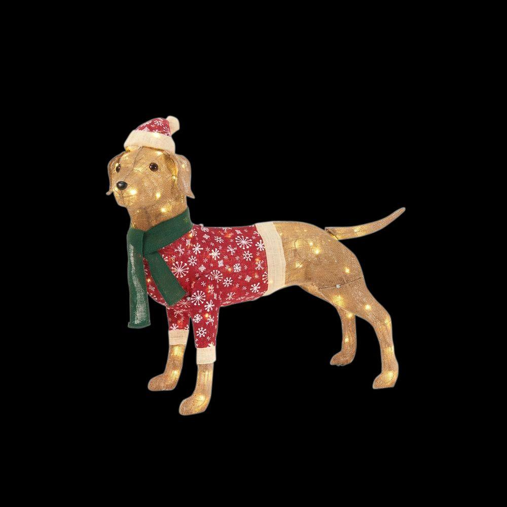 Light Up Dog Christmas Decoration