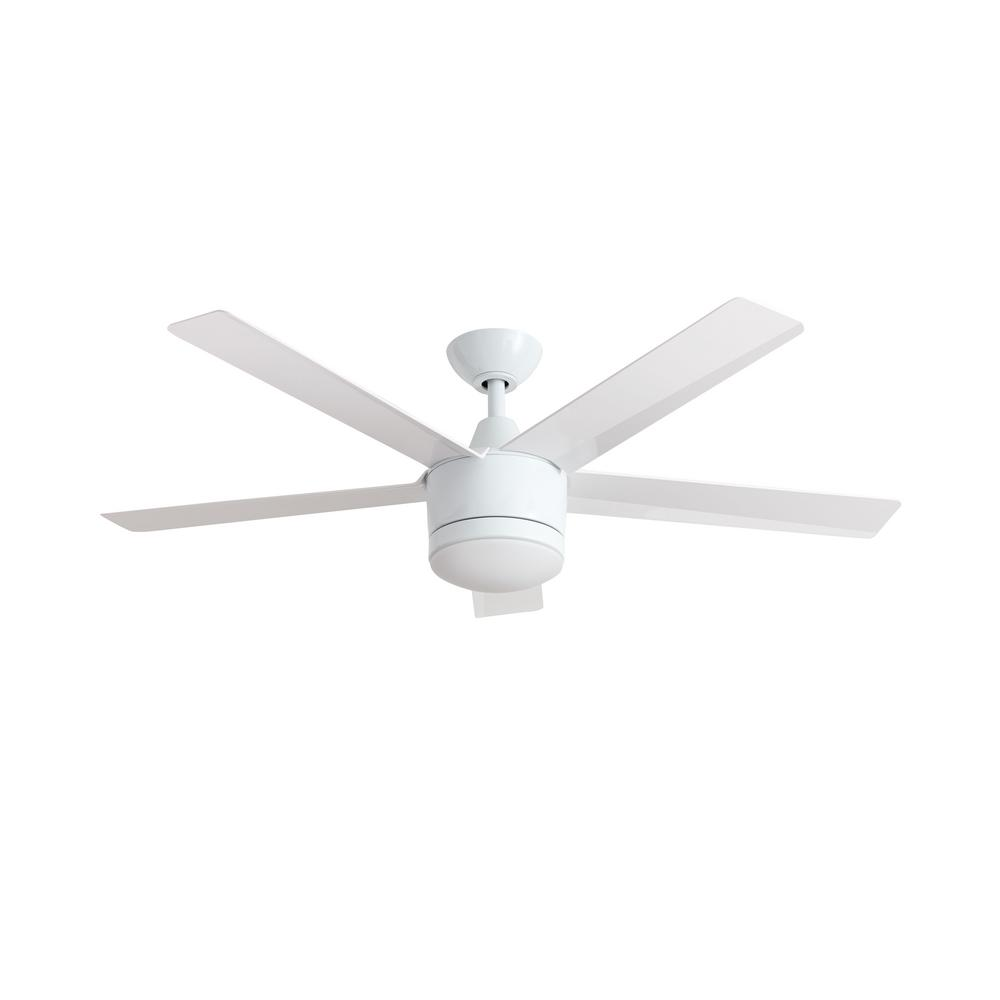 Home Decorators Collection Merwry 52 in. LED White Ceiling