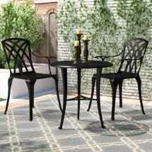 Nuu Garden 3-piece Aluminum Outdoor Patio Bistro Set