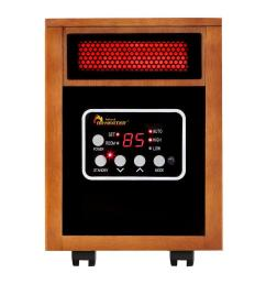 original 1500 watt infrared portable space heater with dual heating system [ 1000 x 1000 Pixel ]