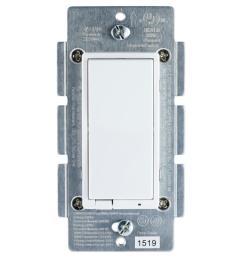 zigbee in wall energy monitoring rocker smart dimmer paddle style switch [ 1000 x 1000 Pixel ]