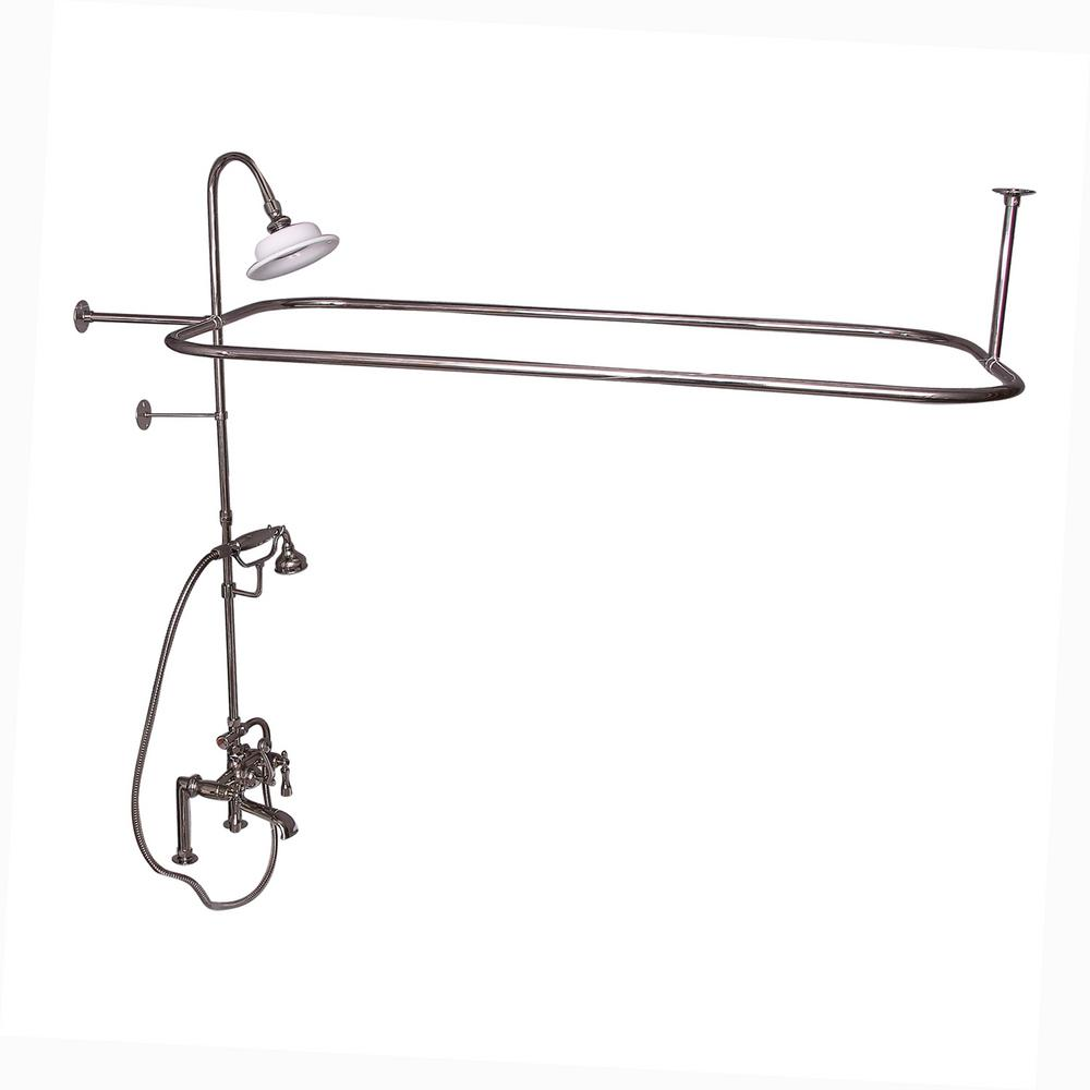 Barclay Products 3-Handle Rim Mounted Claw Foot Tub Faucet