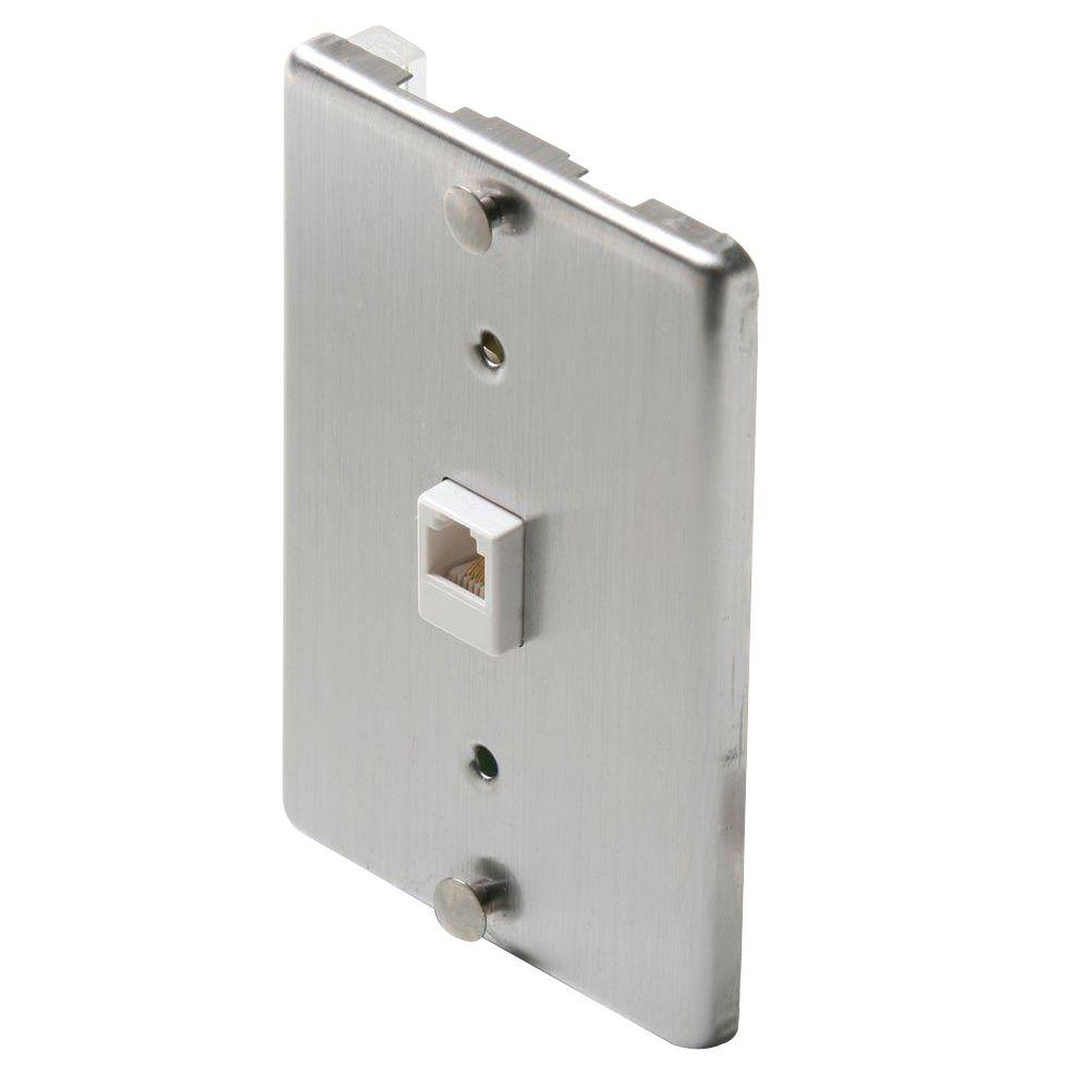 medium resolution of steren 1 gang wall phone jack steel
