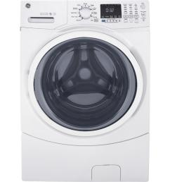 ge 4 5 cu ft high efficiency white front load washing machine with steam [ 1000 x 1000 Pixel ]