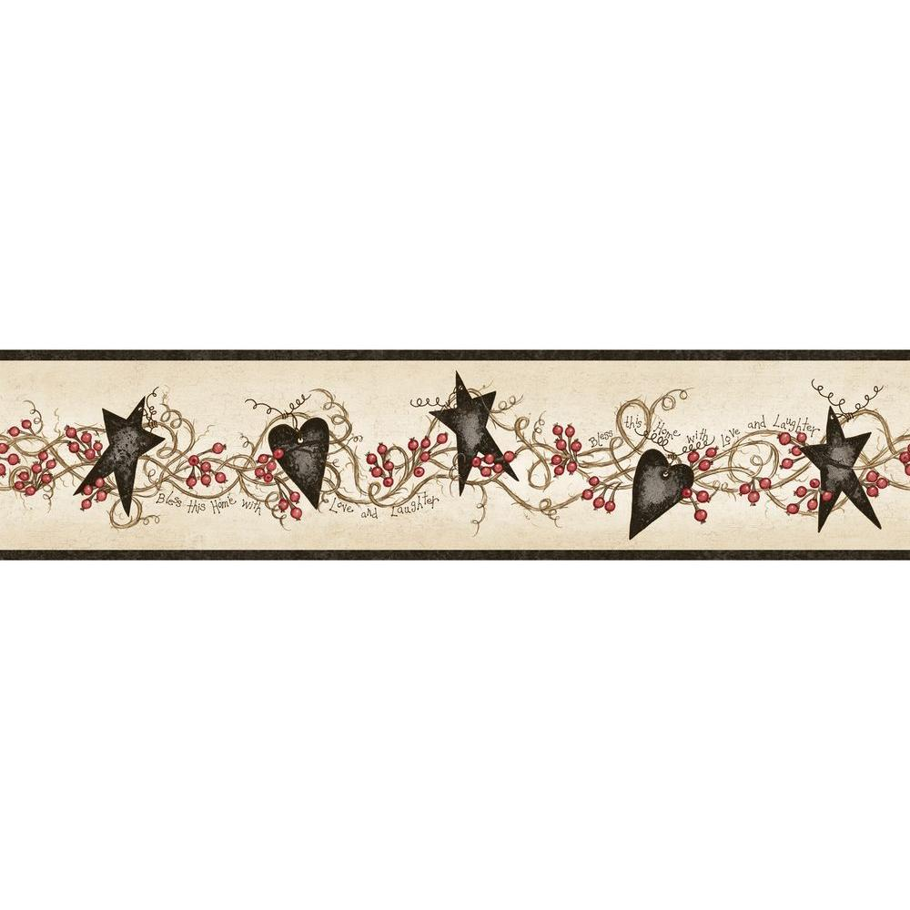 wall paper borders for kitchens types of kitchen cabinets border black wallpaper home decor the depot paxton tin hearts and stars sample