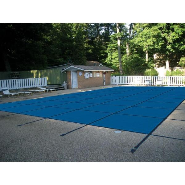 Water Warden 12 Ft. X 24 Rectangle Mesh Blue In-ground Safety Pool Cover-scmb1224 - Home