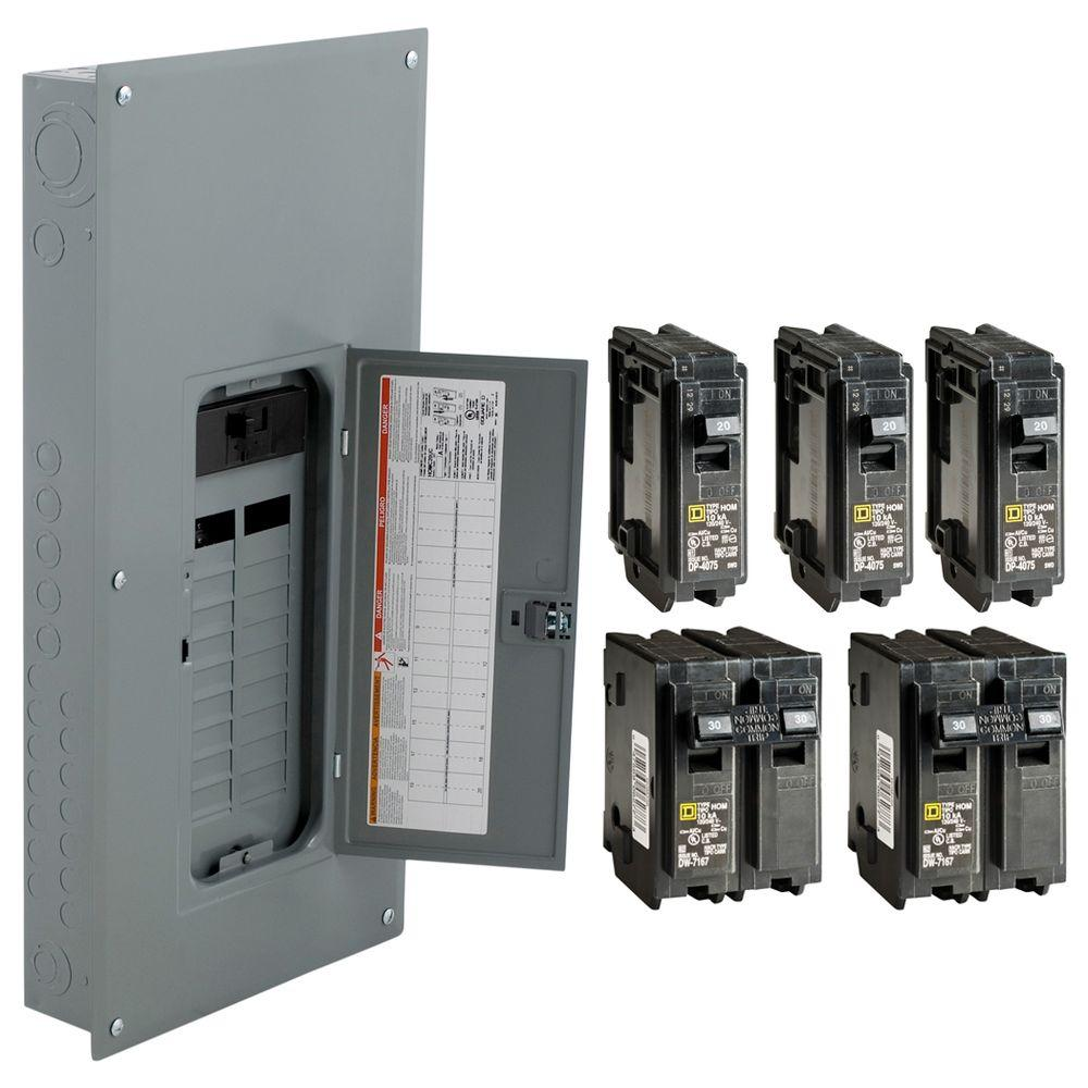 medium resolution of square d 200 amp 20 space 40 circuit indoor main breaker panel box load center 785901977063 ebay