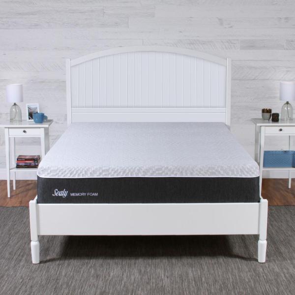Sealy 12 In. Queen Memory Foam Mattress In Box-f03-00109-qn0 - Home Depot
