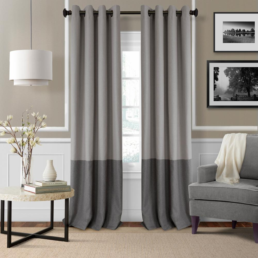 window curtains living room arrangement ideas with fireplace elrene braiden color block blackout curtain 026865874679