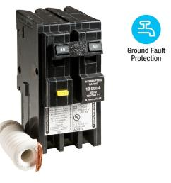 homeline 40 amp 2 pole gfci circuit breaker [ 1000 x 1000 Pixel ]