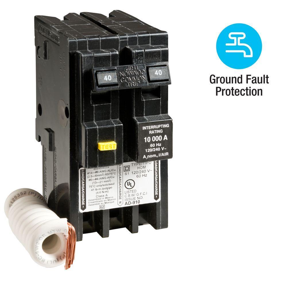 medium resolution of square d homeline 40 amp 2 pole gfci circuit breaker