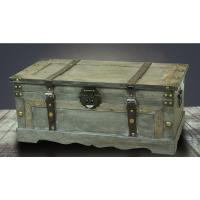 Rustic Large Wooden Storage Trunk Bedroom Living Room Gray ...