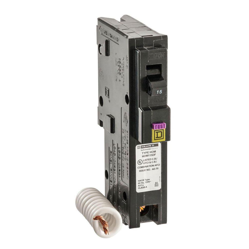 15 Amp Singlepole Arc Fault Circuit Breakerq115afp The Home Depot