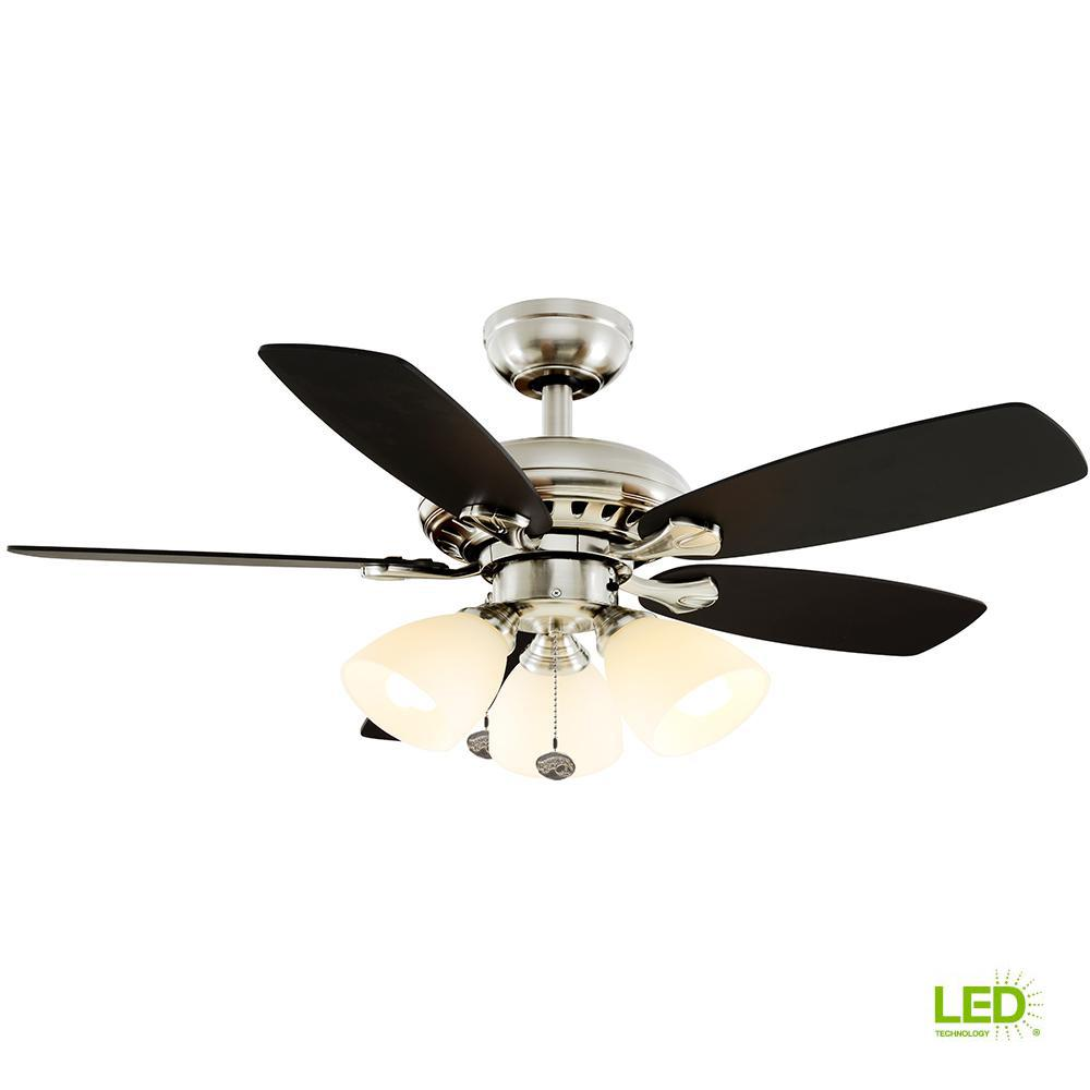 hight resolution of hampton bay luxenberg 36 in led brushed nickel ceiling fan