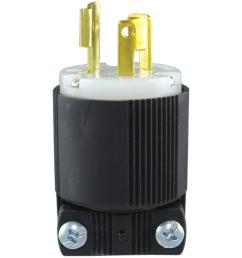 15 amp 250 volt l6 15 safety grip plug black and white [ 1000 x 1000 Pixel ]