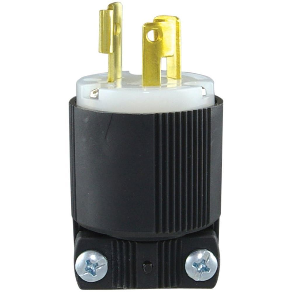medium resolution of 15 amp 250 volt l6 15 safety grip plug black and white