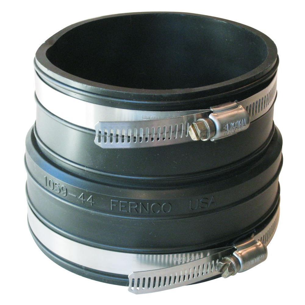 Fernco 4 in. x 4 in. PVC Plastic Socket to Plastic Pipe