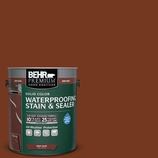 Behr Premium 1 Gal Sc 116 Woodbridge Solid Color Waterproofing Stain And Sealer