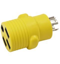 ac works rv generator adapter 20 amp 4 prong nema l14 20p plug to [ 1000 x 1000 Pixel ]