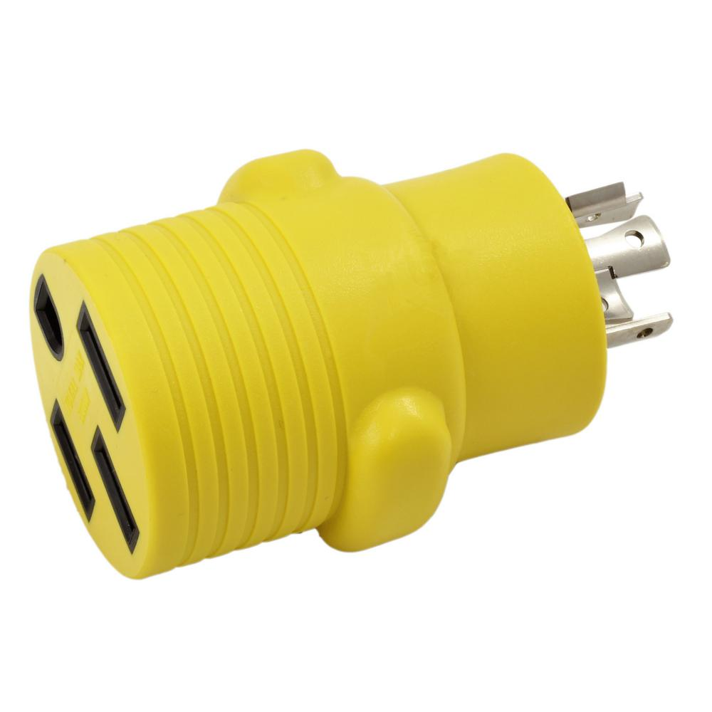 medium resolution of ac works rv generator adapter 20 amp 4 prong nema l14 20p plug to