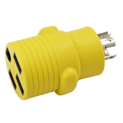 small resolution of ac works rv generator adapter 20 amp 4 prong nema l14 20p plug to