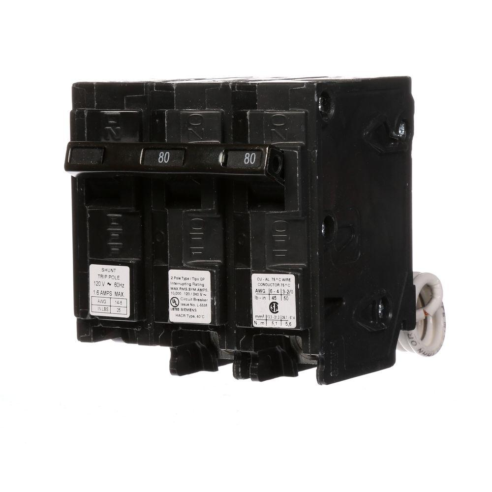 medium resolution of siemens 80 amp double pole type qp circuit breaker with gfci circuit breaker wiring diagram shunt trip breaker wiring diagram