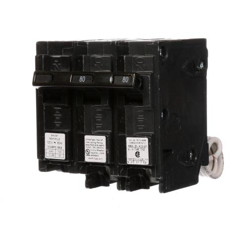 small resolution of siemens 80 amp double pole type qp circuit breaker with gfci circuit breaker wiring diagram shunt trip breaker wiring diagram