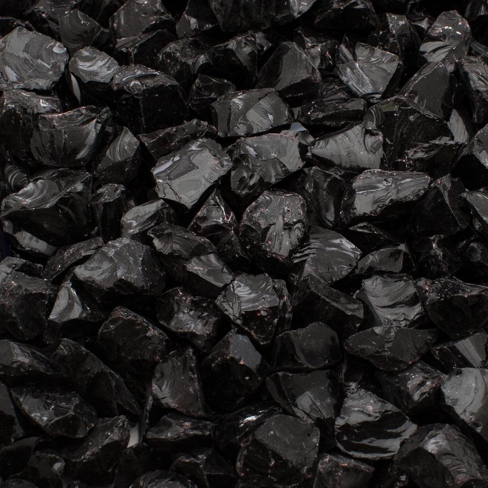 Margo Garden Products 14 In 20 Lb Black Landscape Glass