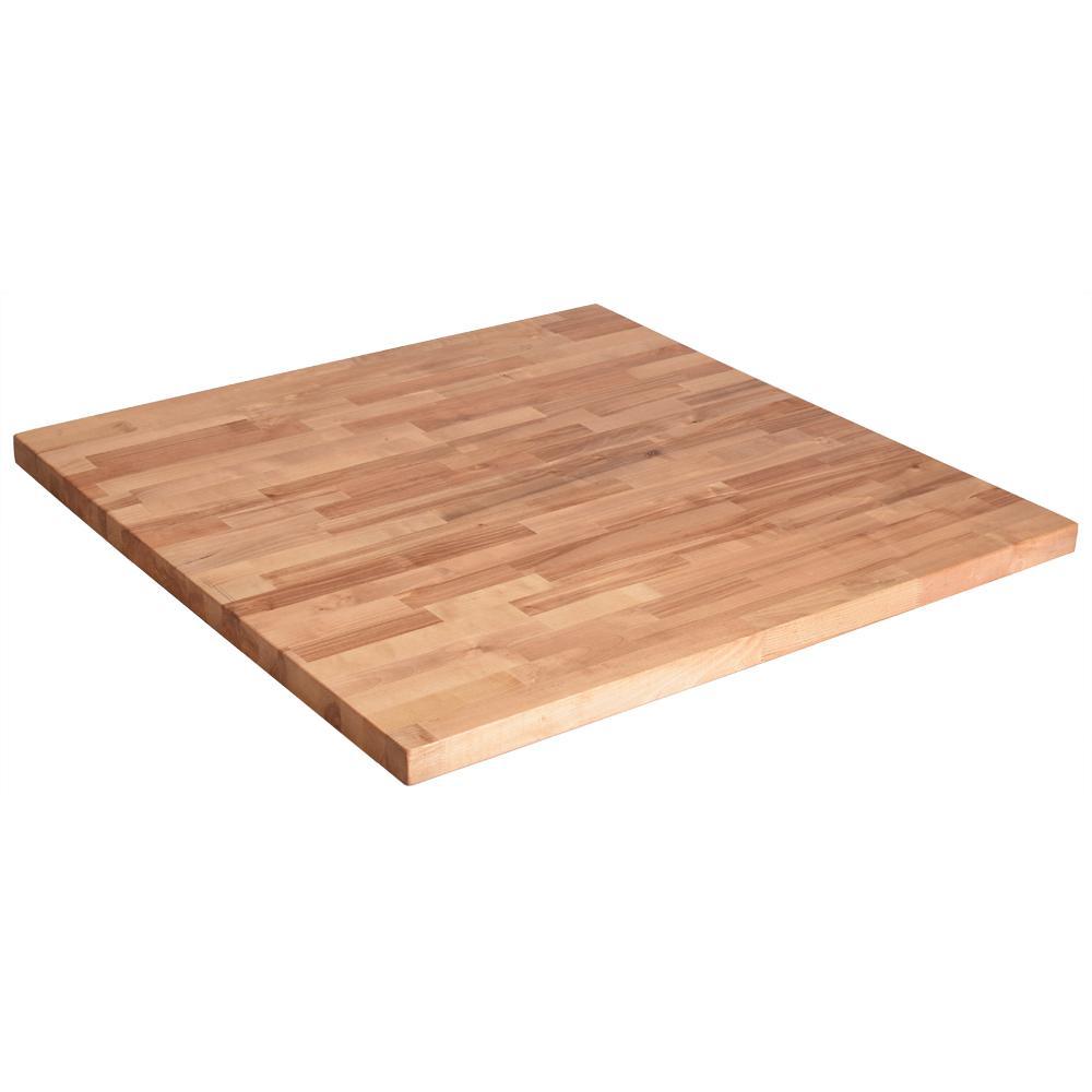 36inx 36inx15in Wood Butcher Block Countertop In