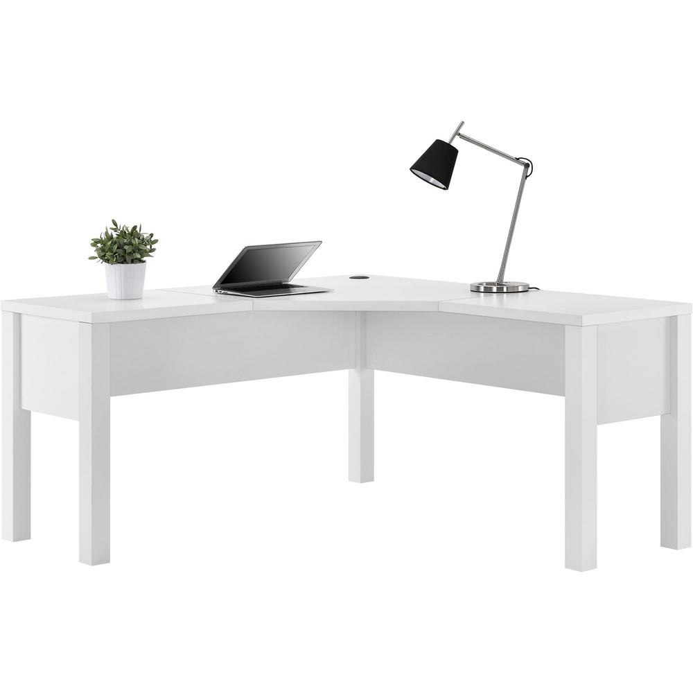 Ameriwood Home Marston White LShaped DeskHD20385  The