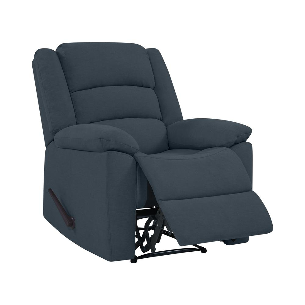 wall hugger recliner chair helinox one prolounger caribbean blue plush low pile velvet reclining
