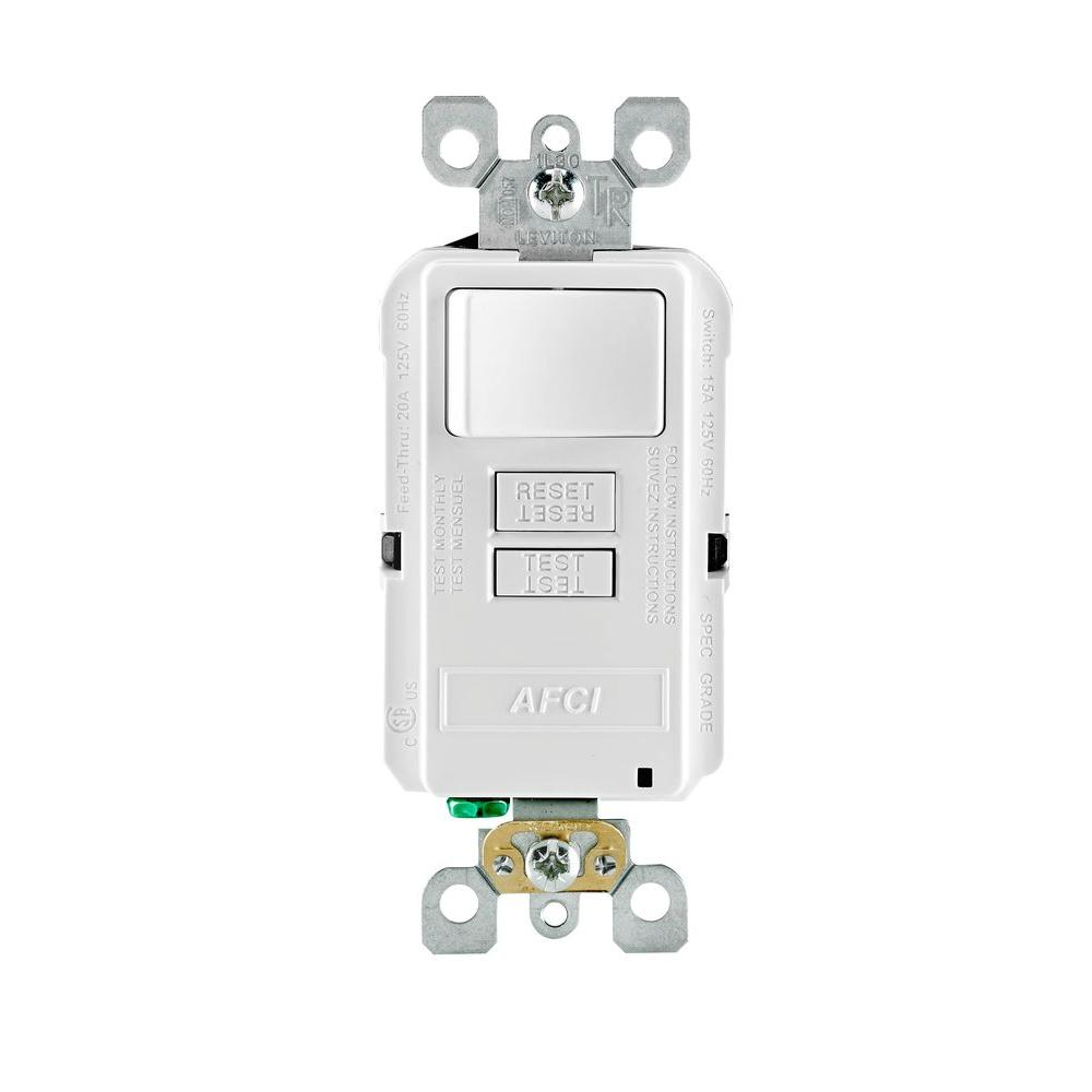medium resolution of leviton smartlockpro 15 amp 125 volt outlet branch circuit combination afci switch white