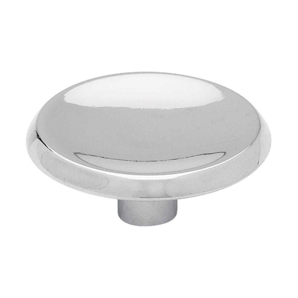 kitchen cabinet knobs accessible sink liberty concave 1 2 in 38mm polished chrome round knob