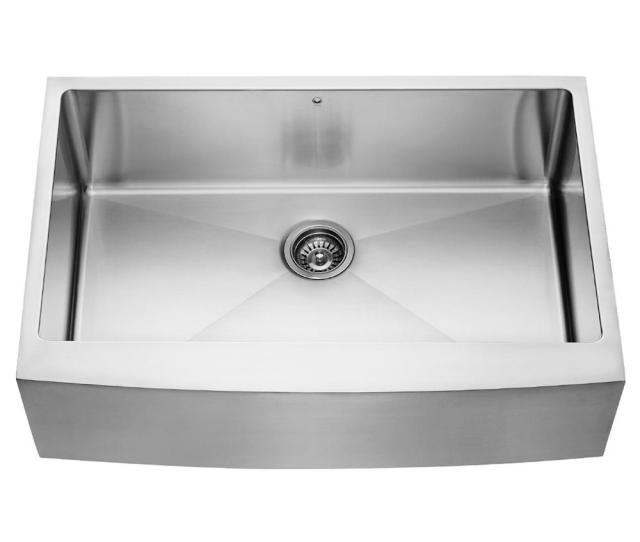 Vigo Farmhouse Apron Front Stainless Steel  In Single Bowl Kitchen Sink