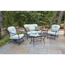 Woodard Ridgeview 5-piece Patio Seating Set With Blue
