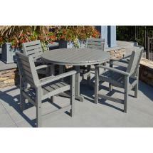 Polywood Signature Slate Grey 5-piece Plastic Outdoor