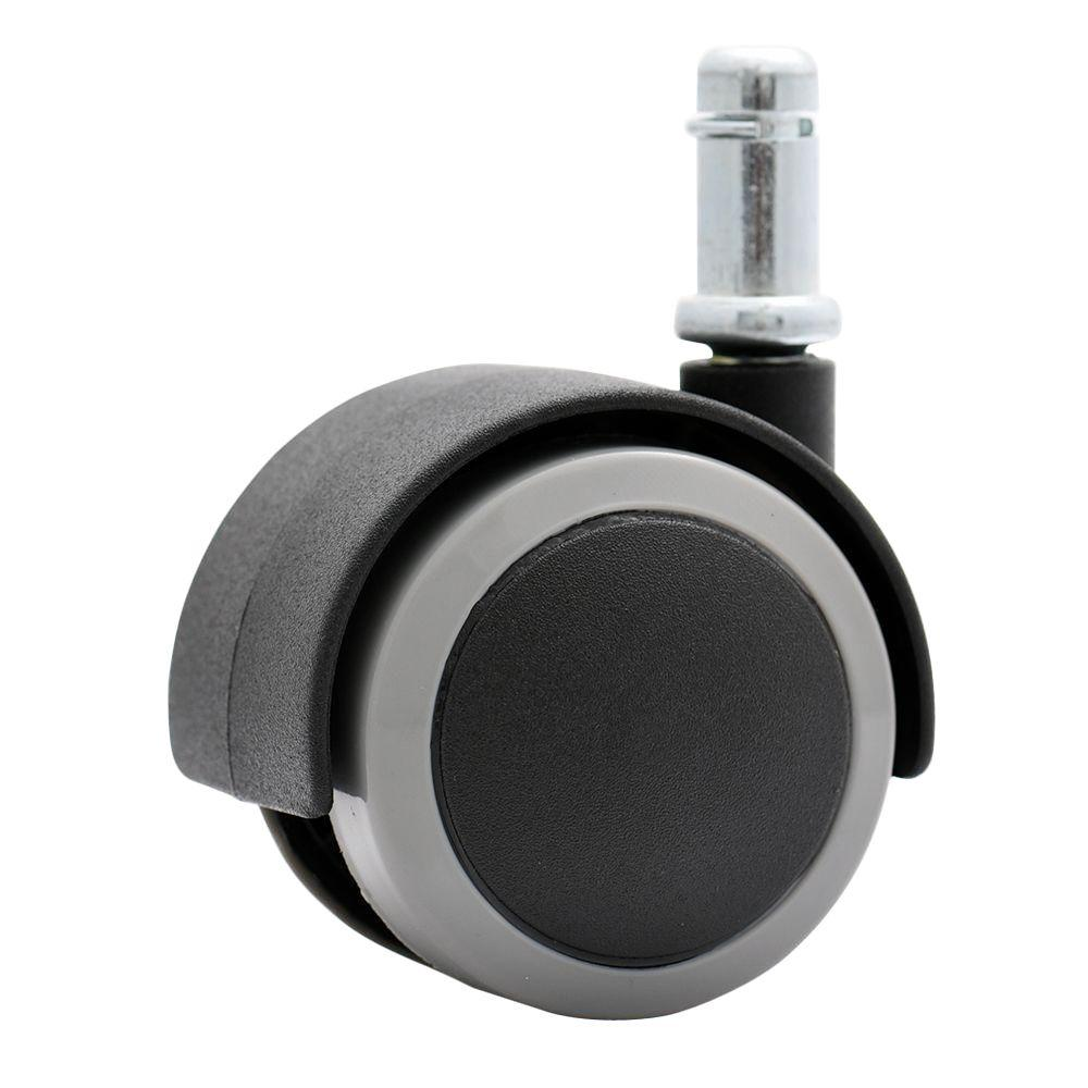 desk chair casters desks with hutch katu 2 in rubber pu office safe for hardwood floors black and gray