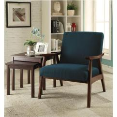 Wood Frame Accent Chairs Office Chair Black Mid Century Style Solid Armchair 90234336266