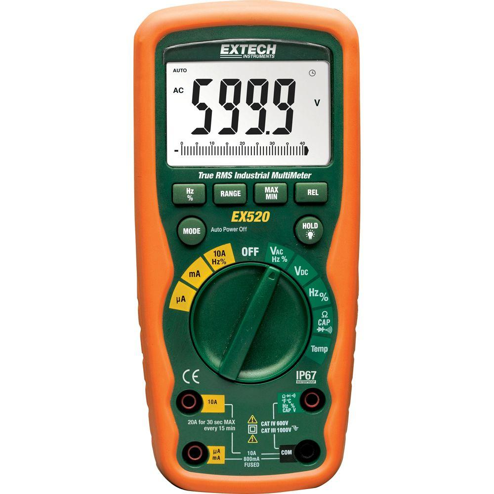 hight resolution of extech instruments 11 function heavy duty true rms industrial multimeter