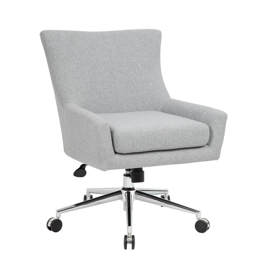 Linen Office Chair Grey Linen Desk Chair
