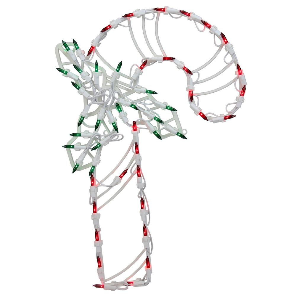 Northlight 18 in. Lighted Candy Cane with Holly Christmas
