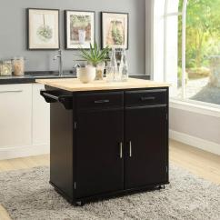 Drop Leaf Kitchen Cart Fruit Themed Decor Collection Usl Townville Black With Sk19251a Bk The Home Depot