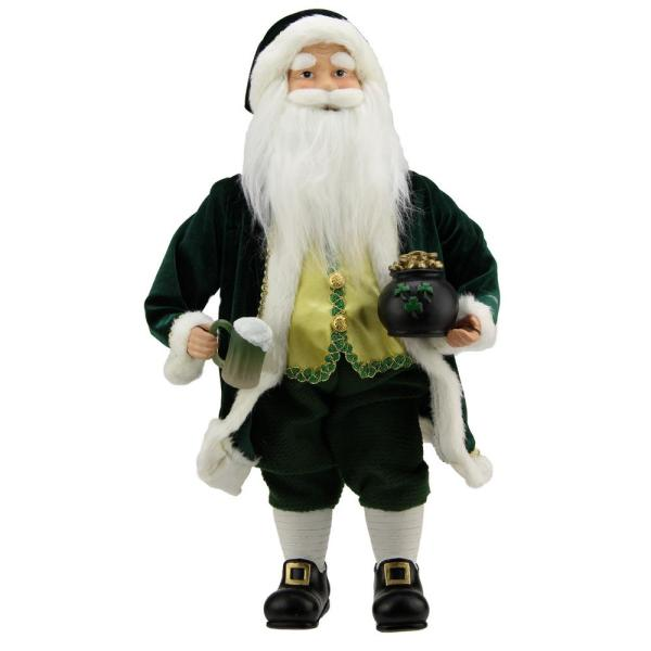 18.5 In. Luck Of Irish Santa Claus Holding Beer