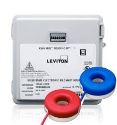 leviton 100 amp mini meter kit with 2 solid cts and outdoor enclosure white [ 1000 x 1000 Pixel ]