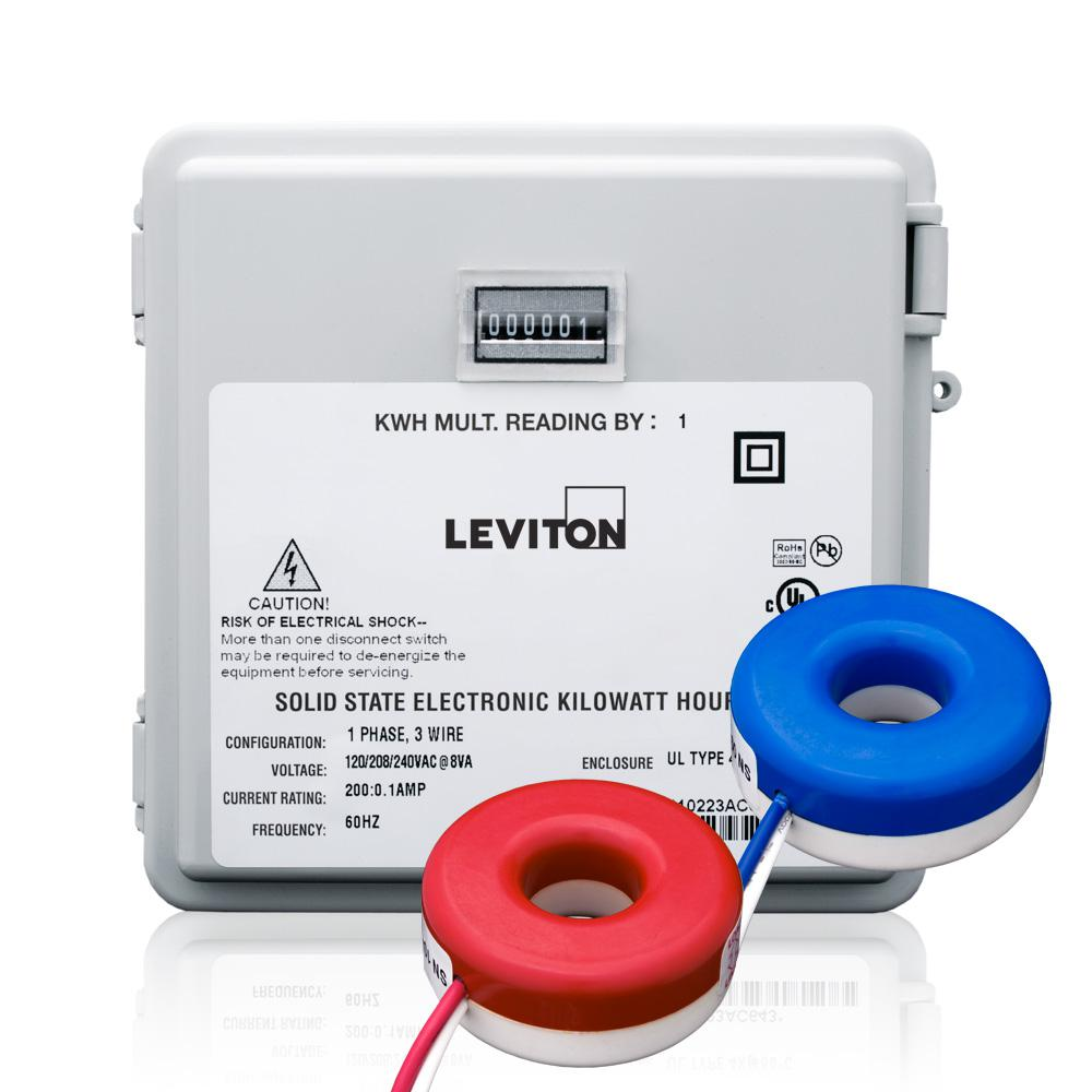 hight resolution of leviton 100 amp mini meter kit with 2 solid cts and outdoor enclosure white